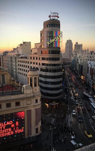 Atardecer de verano en Madrid